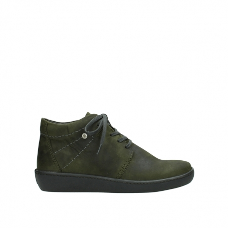 wolky lace up shoes 08126 babylon 50730 forest green oiled leather