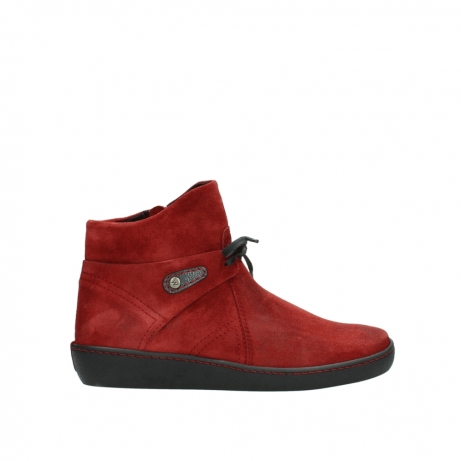wolky ankle boots 08127 pharos 40501 dark red suede