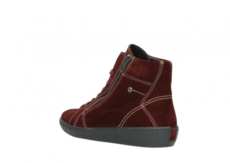wolky lace up boots 08130 zeus 40510 burgundy suede_4