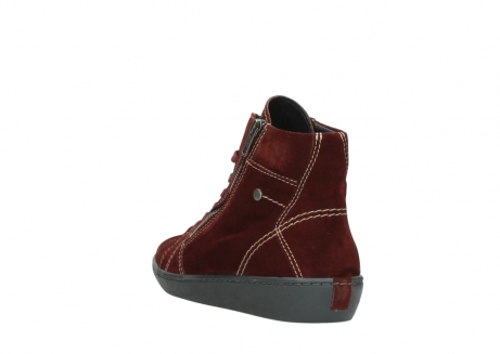 wolky lace up boots 08130 zeus 40510 burgundy suede_5