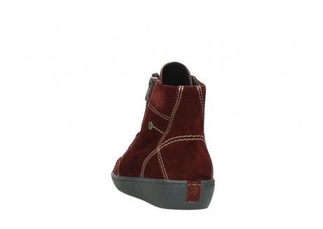 wolky lace up boots 08130 zeus 40510 burgundy suede_6