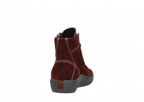 wolky lace up boots 08130 zeus 40510 burgundy suede_8