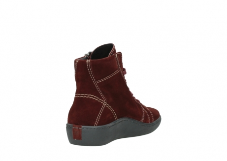 wolky lace up boots 08130 zeus 40510 burgundy suede_9