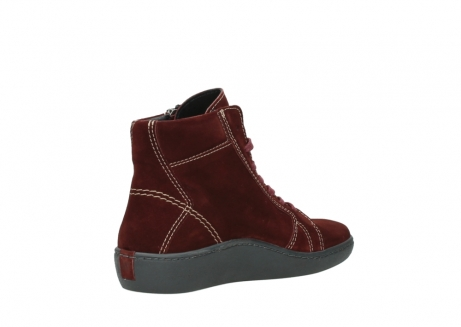 wolky lace up boots 08130 zeus 40510 burgundy suede_10