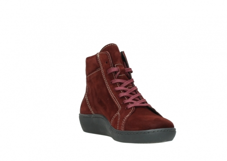 wolky lace up boots 08130 zeus 40510 burgundy suede_17