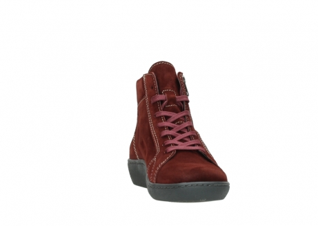 wolky lace up boots 08130 zeus 40510 burgundy suede_18