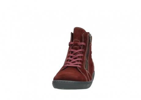 wolky lace up boots 08130 zeus 40510 burgundy suede_20