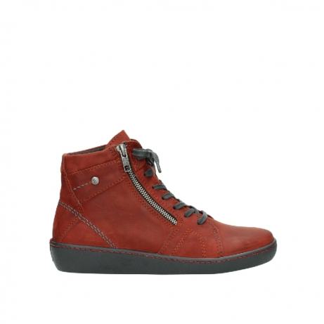 wolky lace up boots 08130 zeus 50540 winter red oiled leather