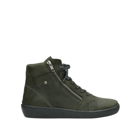 wolky lace up boots 08130 zeus 50730 forest green oiled leather