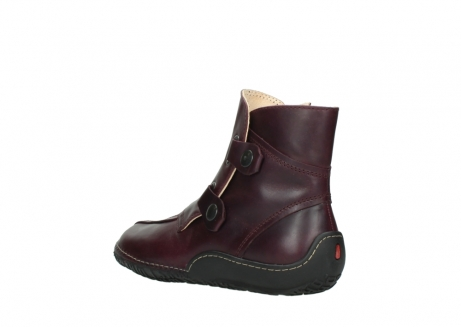 wolky ankle boots 08305 circle 50510 burgundy oiled leather_4