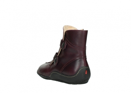 wolky ankle boots 08305 circle 50510 burgundy oiled leather_5
