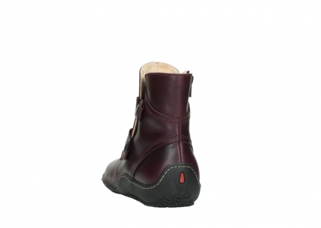 wolky ankle boots 08305 circle 50510 burgundy oiled leather_6