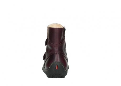 wolky ankle boots 08305 circle 50510 burgundy oiled leather_7