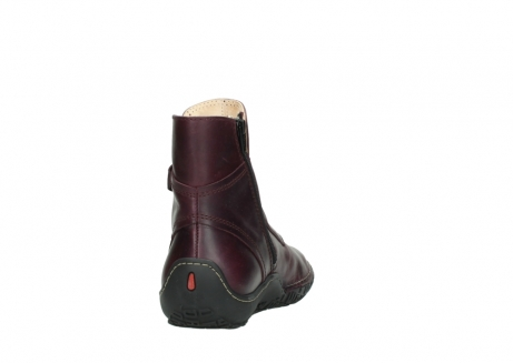 wolky ankle boots 08305 circle 50510 burgundy oiled leather_8