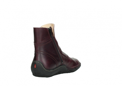 wolky ankle boots 08305 circle 50510 burgundy oiled leather_9