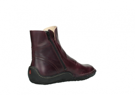 wolky ankle boots 08305 circle 50510 burgundy oiled leather_10