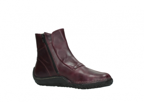 wolky ankle boots 08305 circle 50510 burgundy oiled leather_15