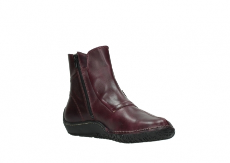 wolky ankle boots 08305 circle 50510 burgundy oiled leather_16