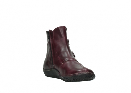 wolky ankle boots 08305 circle 50510 burgundy oiled leather_17