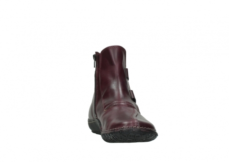 wolky ankle boots 08305 circle 50510 burgundy oiled leather_18