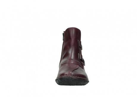 wolky ankle boots 08305 circle 50510 burgundy oiled leather_19