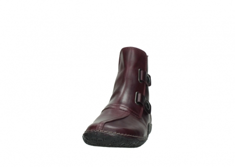 wolky ankle boots 08305 circle 50510 burgundy oiled leather_20