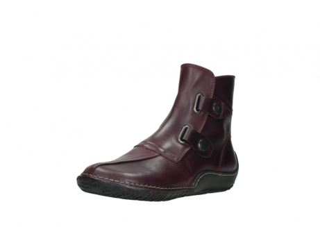 wolky ankle boots 08305 circle 50510 burgundy oiled leather_22