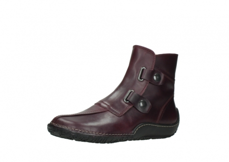 wolky ankle boots 08305 circle 50510 burgundy oiled leather_23