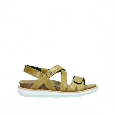 wolky sandalen 08480 sunstone 30920 light yellow leather