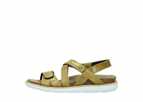 wolky sandalen 08480 sunstone 30920 light yellow leather_1