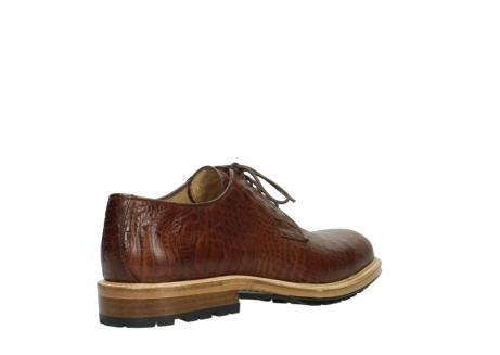 wolky chaussures a lacets 09403 turin 90430 cuir croco cognac_4