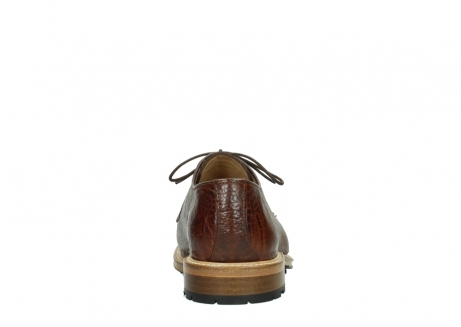 wolky chaussures a lacets 09403 turin 90430 cuir croco cognac_7