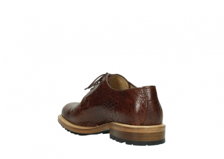 wolky chaussures a lacets 09403 turin 90430 cuir croco cognac_9