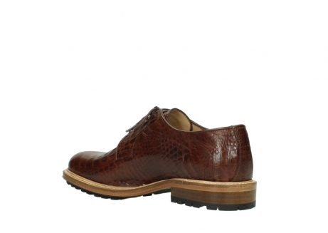 wolky chaussures a lacets 09403 turin 90430 cuir croco cognac_10