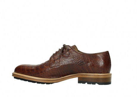 wolky chaussures a lacets 09403 turin 90430 cuir croco cognac_12