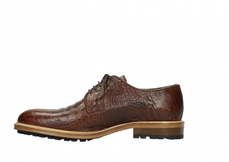 wolky chaussures a lacets 09403 turin 90430 cuir croco cognac_13