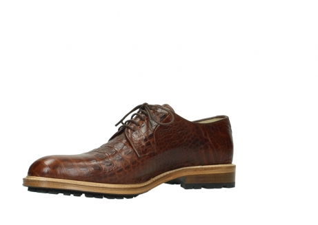 wolky chaussures a lacets 09403 turin 90430 cuir croco cognac_15