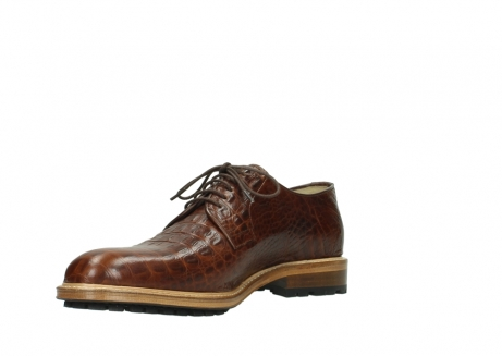wolky lace up shoes 09403 turin 90430 cognac croco leather_16