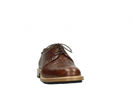 wolky chaussures a lacets 09403 turin 90430 cuir croco cognac_20