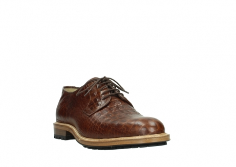 wolky chaussures a lacets 09403 turin 90430 cuir croco cognac_21