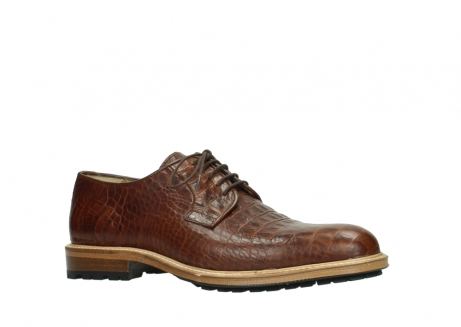 wolky chaussures a lacets 09403 turin 90430 cuir croco cognac_23