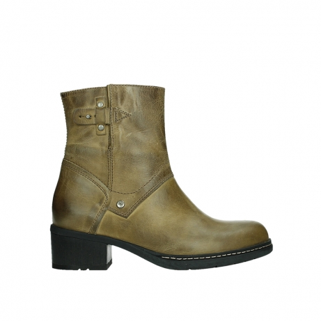 wolky ankle boots 01262 drayton 30920 ocher yellow leather