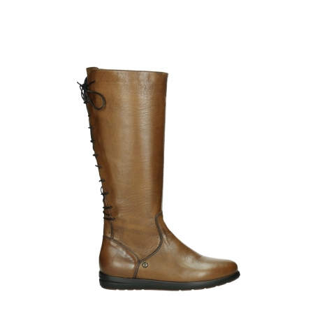 wolky high boots 02426 vector 20430 cognac leather