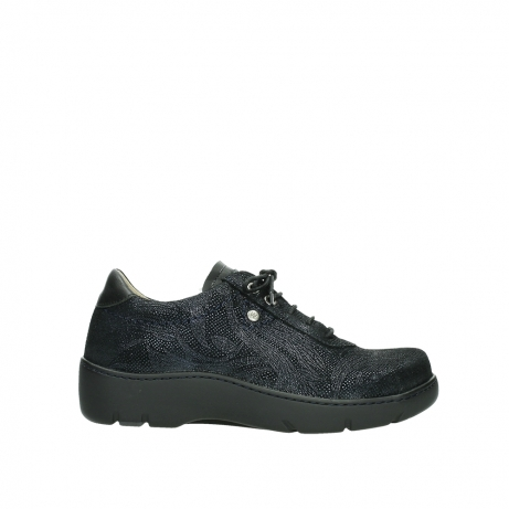 wolky 0325043800 blauw metal suede