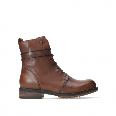 wolky bottines a lacets 04444 murray xw 20430 cuir cognac