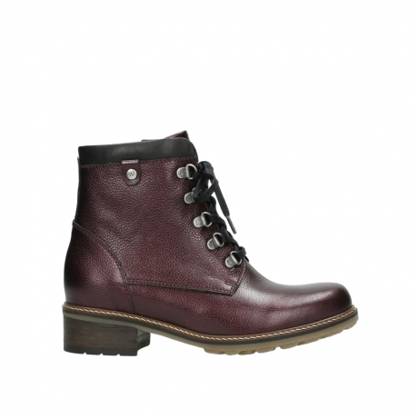 wolky bottines a lacets 04475 ronda 81510 cuir bordeaux