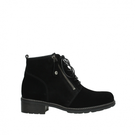 wolky lace up boots 04476 bunda 40000 black suede