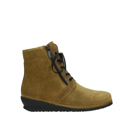wolky bottines a lacets 07256 bakersfield 40920 suegravede jaune ocre