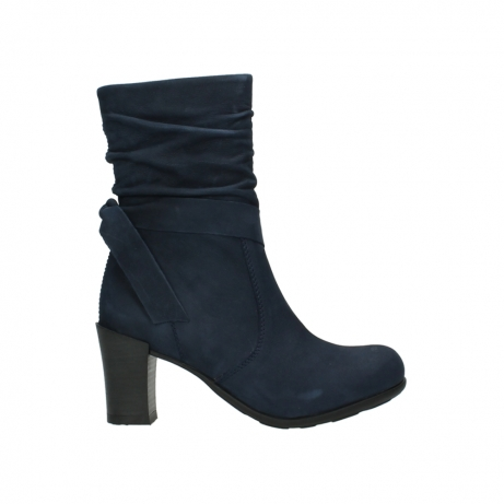 wolky mid calf boots 07750 cara 13800 blue nubuckleather