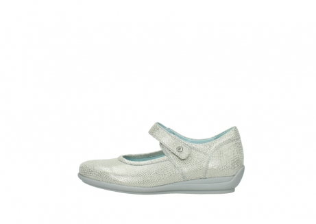 wolky mary janes 00385 noble 20120 off white silver printed leather_1